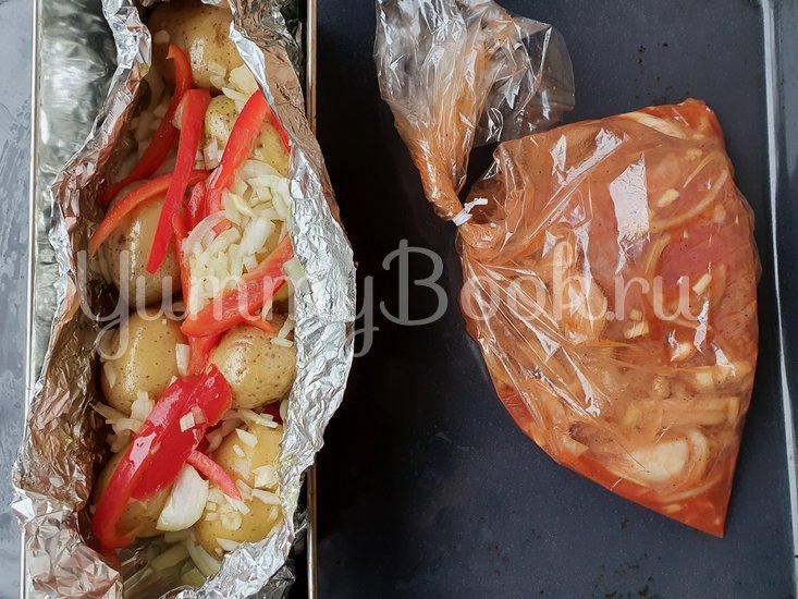 Запечённая говядина под маринадом с печеным картофелем - шаг 3