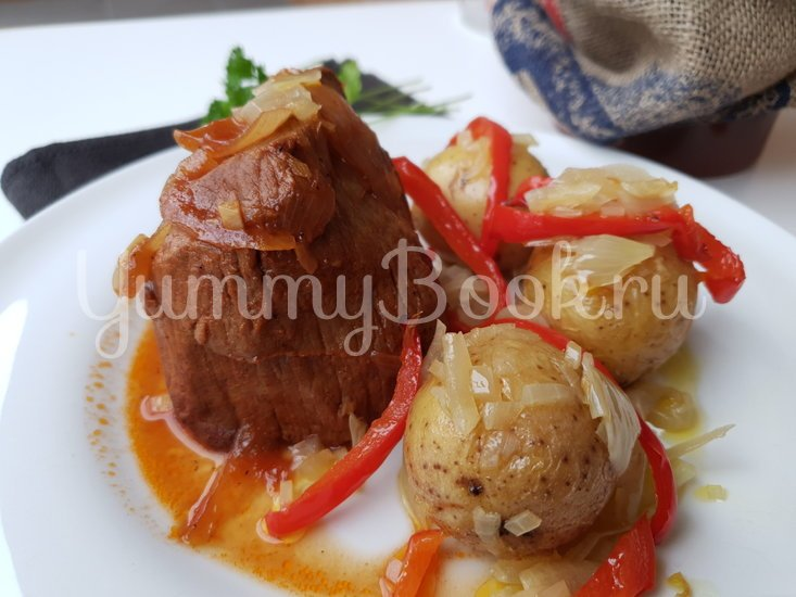 Запечённая говядина под маринадом с печеным картофелем - шаг 5