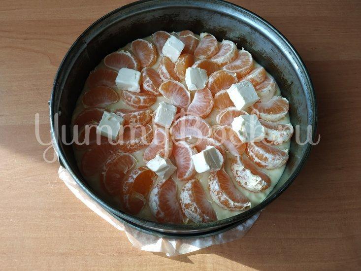 Мандариновый пирог (простое тесто + свежие мандарины) - шаг 4