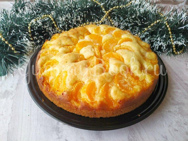 Мандариновый пирог (простое тесто + свежие мандарины) - шаг 5