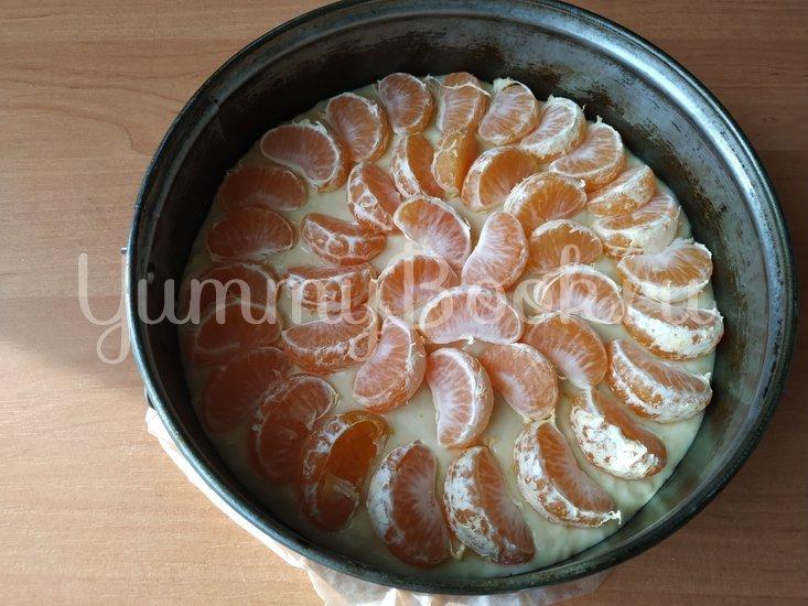 Мандариновый пирог (простое тесто + свежие мандарины) - шаг 3