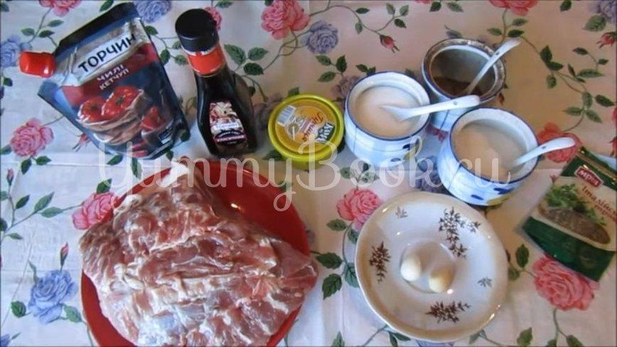 Свиной ошеек в остром маринаде, запечённый в духовке - шаг 1