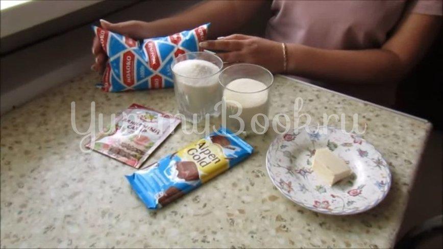 Шоколадный десерт без выпечки и желатина - шаг 1
