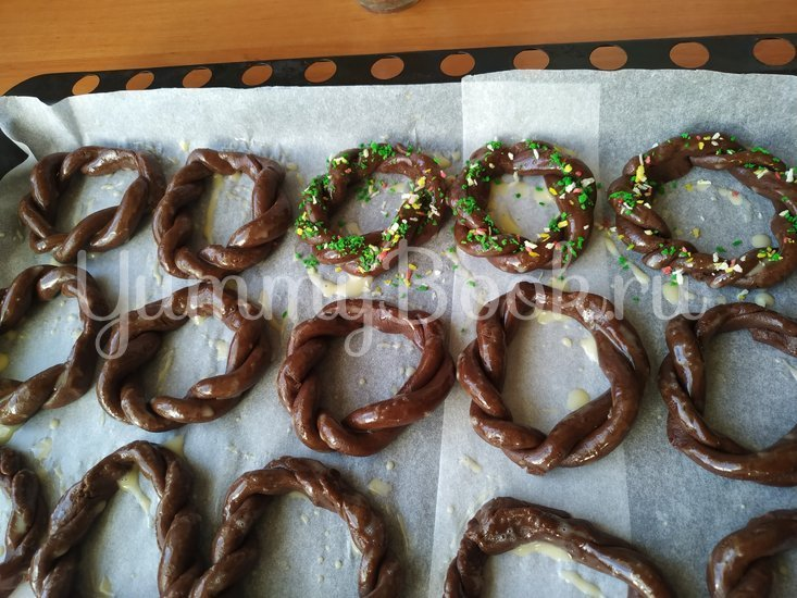 Шоколадное печенье «Рождественские веночки» - шаг 6
