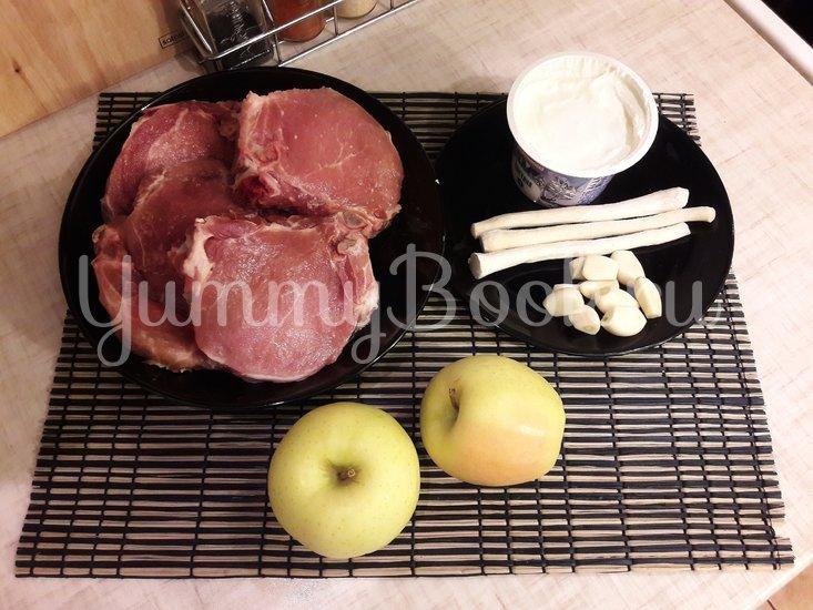 Корейка в сметанном маринаде с хреном и яблоком - шаг 1