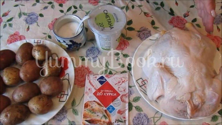 Курица, запеченная с картофелем в духовке - шаг 1