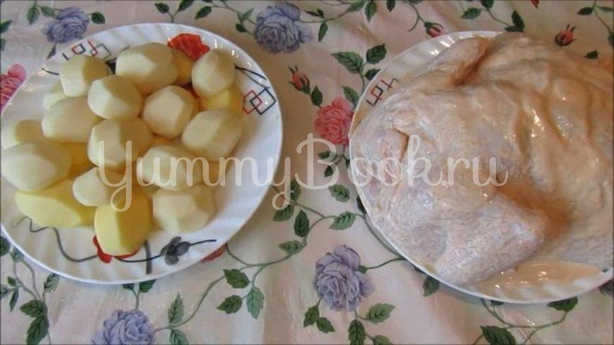 Курица, запеченная с картофелем в духовке - шаг 2