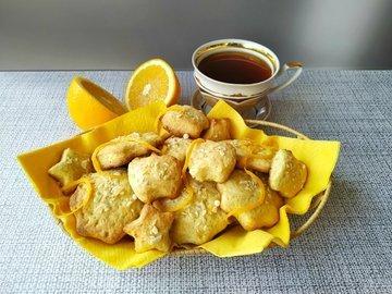 Апельсиновое печенье с миндалем