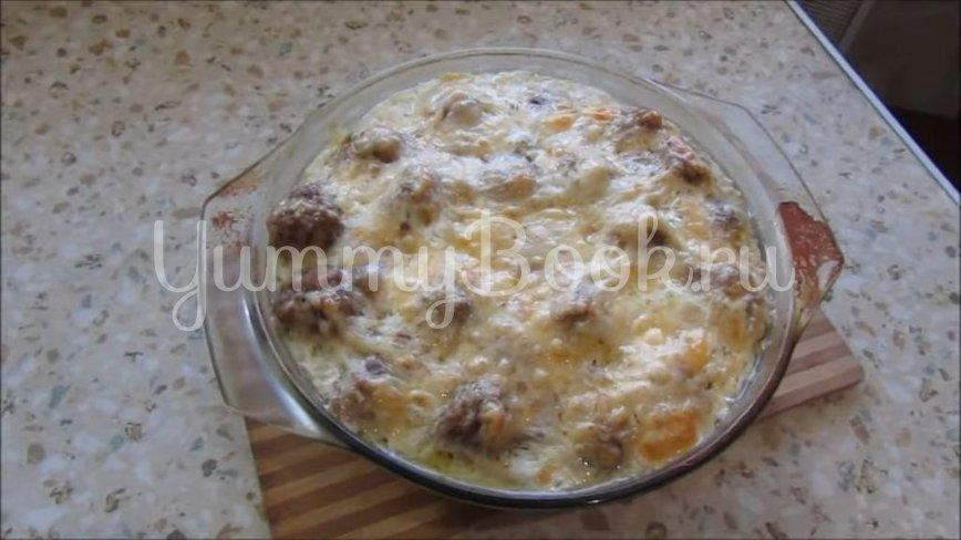 Макароны с мясными фрикадельками в духовке  - шаг 6