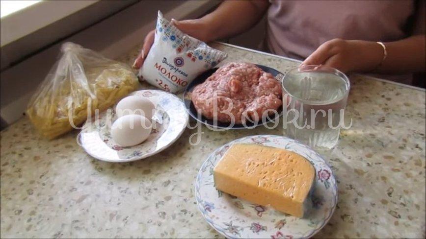 Макароны с мясными фрикадельками в духовке  - шаг 1
