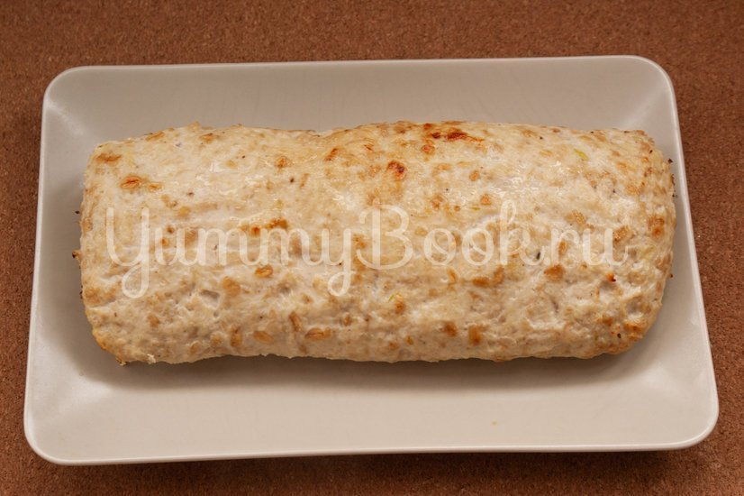 Куриный рулет с сыром и грибами - шаг 7