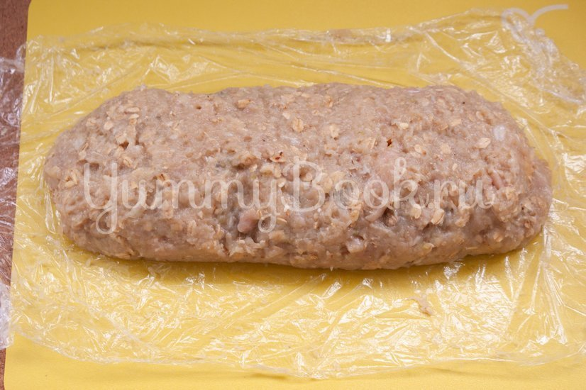 Куриный рулет с сыром и грибами - шаг 5