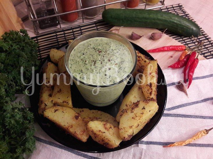 Огуречный соус с фетой и чесноком - шаг 5