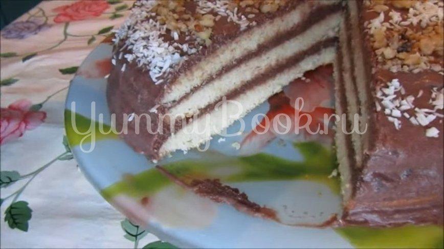 Торт на сгущенном молоке с шоколадным кремом - шаг 7