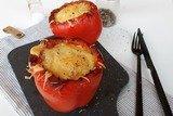 Запеченный перец с картофелем и тунцом