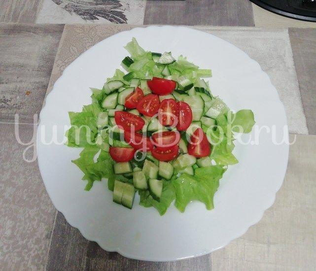 Салат из свежих овощей с авокадо - шаг 3