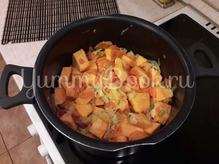 Тыквенный суп-пюре с болгарскими перцами - шаг 7