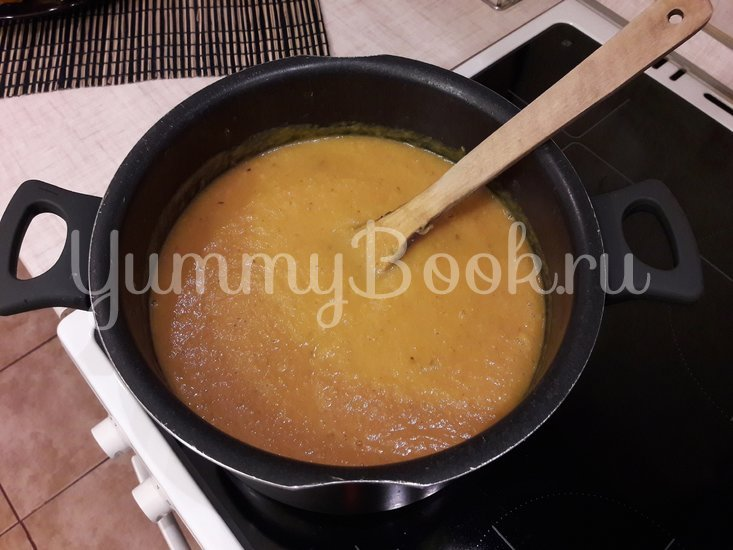 Тыквенный суп-пюре с болгарскими перцами - шаг 10
