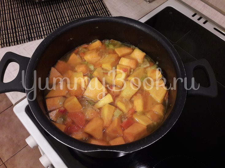 Тыквенный суп-пюре с болгарскими перцами - шаг 8
