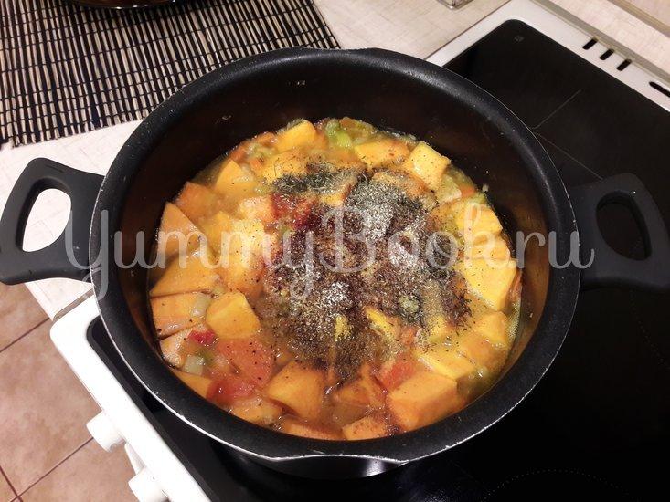 Тыквенный суп-пюре с болгарскими перцами - шаг 9
