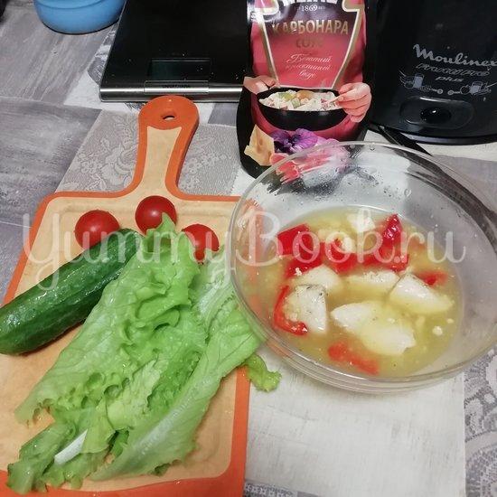 Салат с тушеной грудкой индейки - шаг 1
