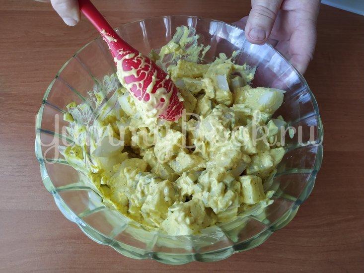 Датский картофельный салат с соусом Ремулад - шаг 6