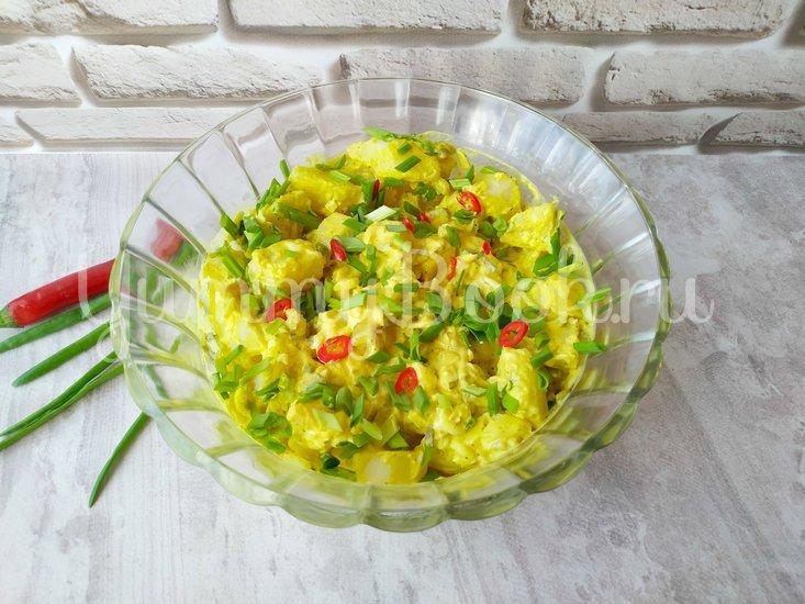 Датский картофельный салат с соусом Ремулад - шаг 7