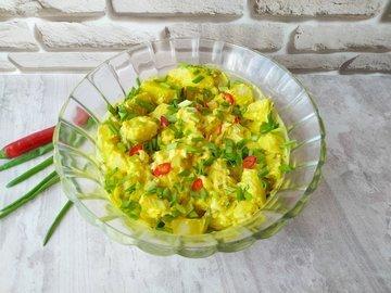 Датский картофельный салат с соусом Ремулад