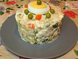 Салат «Оливье» со свининой