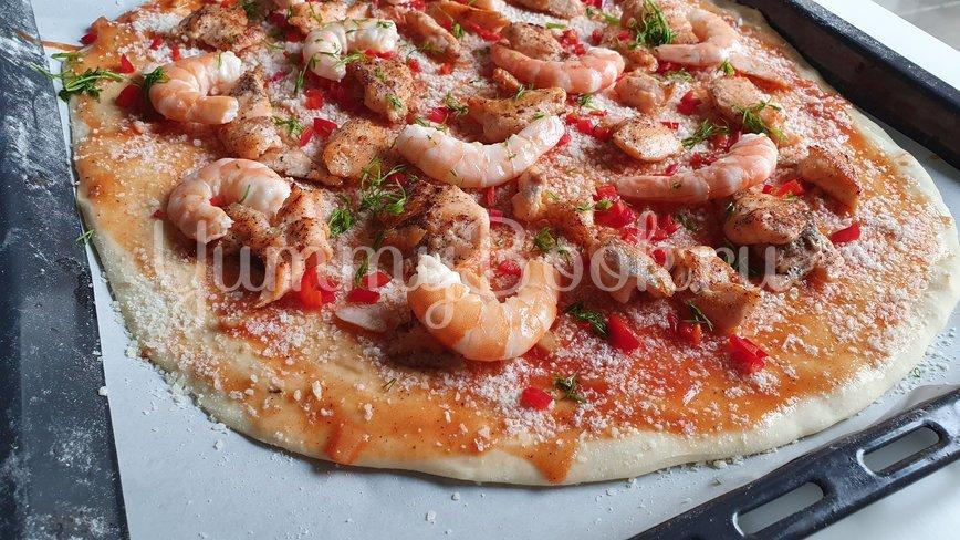 Пицца с морепродуктами  - шаг 8