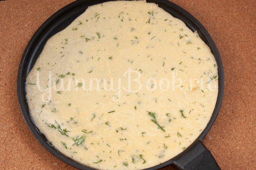 Сырные блины с укропом - шаг 6