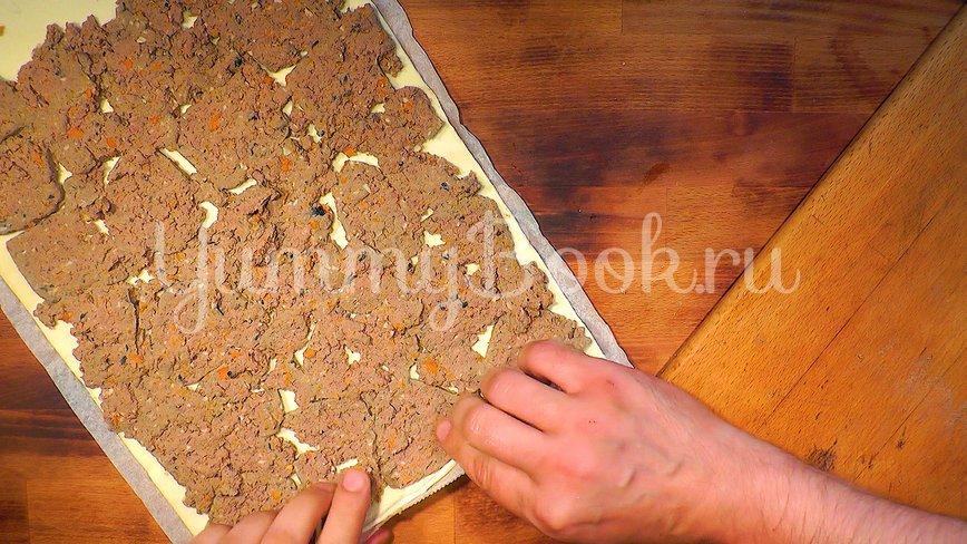 Пирожки - рулетики из слоёного теста - шаг 2