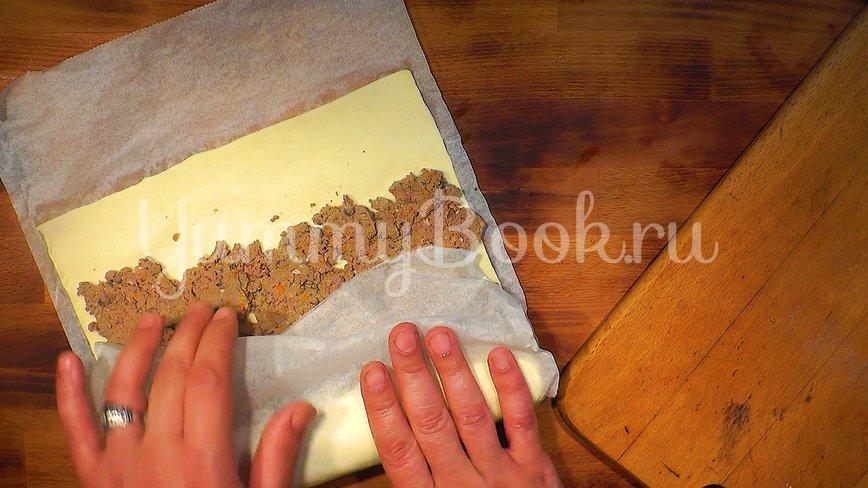 Пирожки - рулетики из слоёного теста - шаг 3