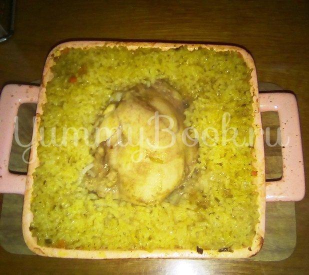 Куриное бедро с рисом и овощами по-домашнему  - шаг 12
