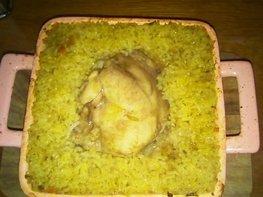 Куриное бедро с рисом и овощами по-домашнему