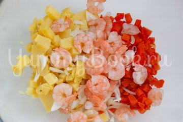 Картофельный салат с креветками - шаг 3