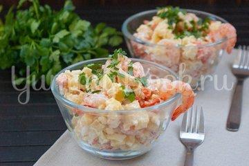 Картофельный салат с креветками - шаг 5