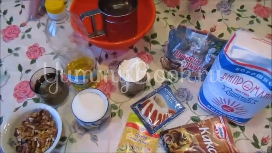 Постное шоколадно-ореховое печенье - шаг 1