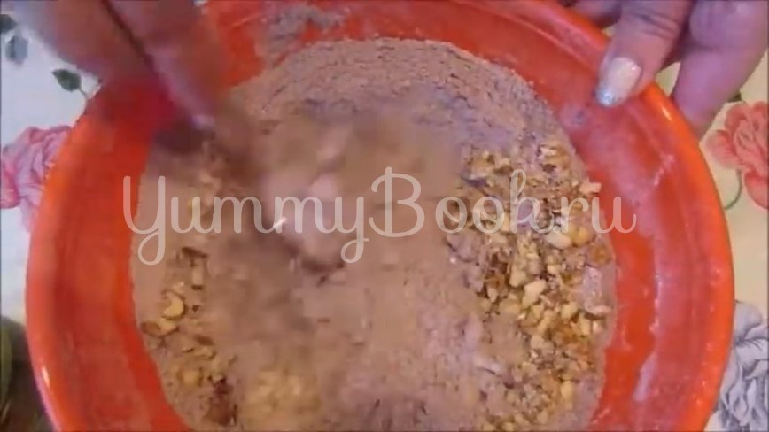Постное шоколадно-ореховое печенье - шаг 3