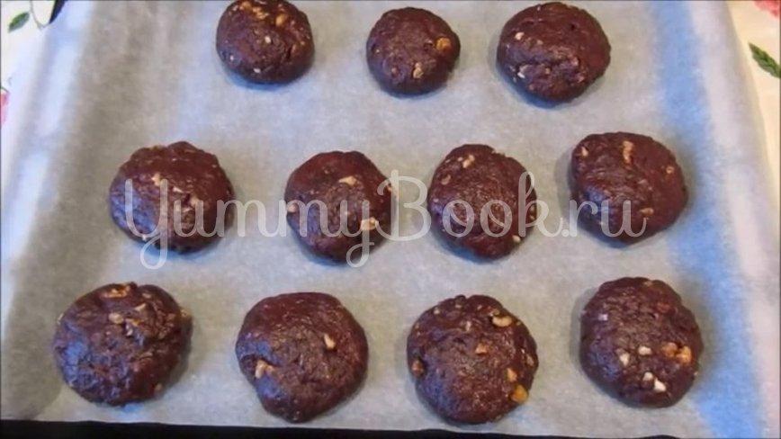 Постное шоколадно-ореховое печенье - шаг 5