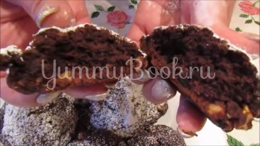 Постное шоколадно-ореховое печенье - шаг 6