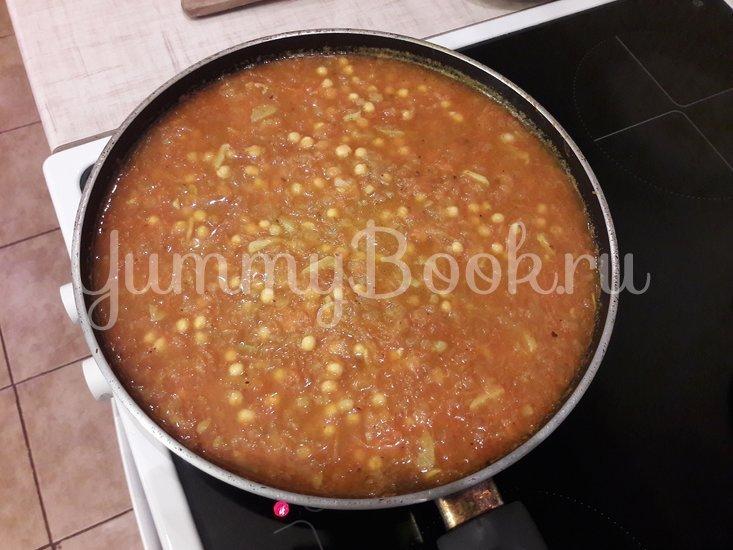 Пряная горошница с овощами в сковороде - шаг 9