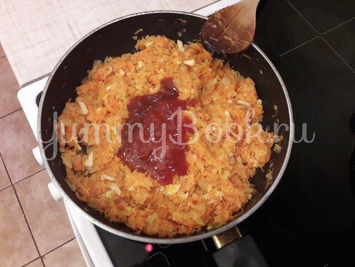 Пряная горошница с овощами в сковороде - шаг 5