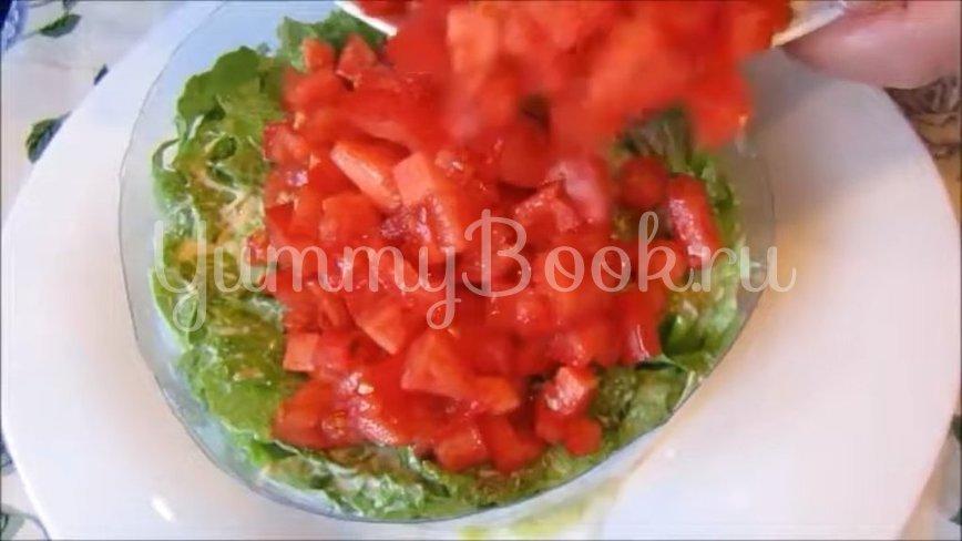 Постный слоеный салат с грибами и помидорами - шаг 4