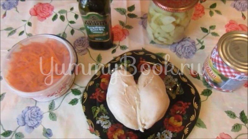 Диетический салат с курицей и овощами - шаг 1