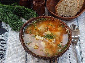 Суп с макаронными изделиями в мультиварке