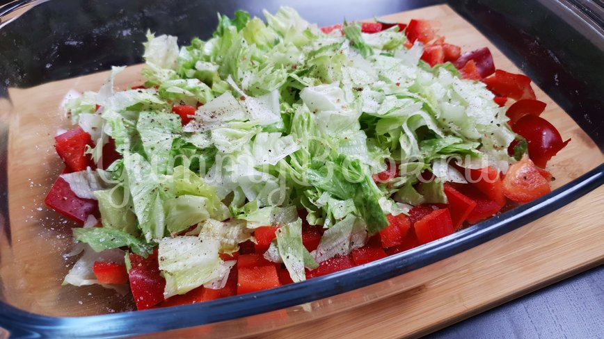 Овощной салат с осьминогом - шаг 3