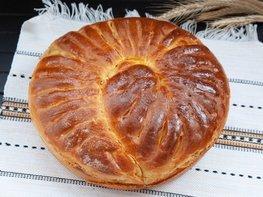 Дрожжевой пирог с фаршем, грибами и сыром