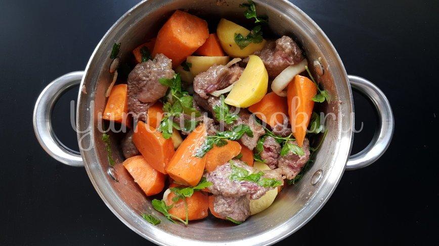 Рагу из говядины и горчичные клецки - шаг 4