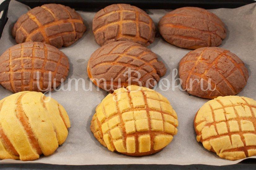 Мексиканские булочки Conchas - шаг 15